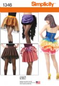 1346 Simplicity Pattern: Misses' Costume Skirts and Bustles